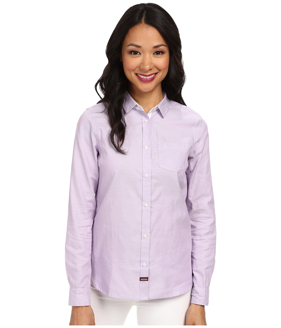 U.S. POLO ASSN. - Oxford Shirt (Fade Purple) Women's Clothing