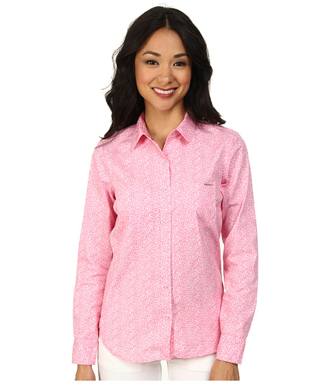 U.S. POLO ASSN. - Long Sleeve Printed Poplin Shirt (Pink Zinc) Women