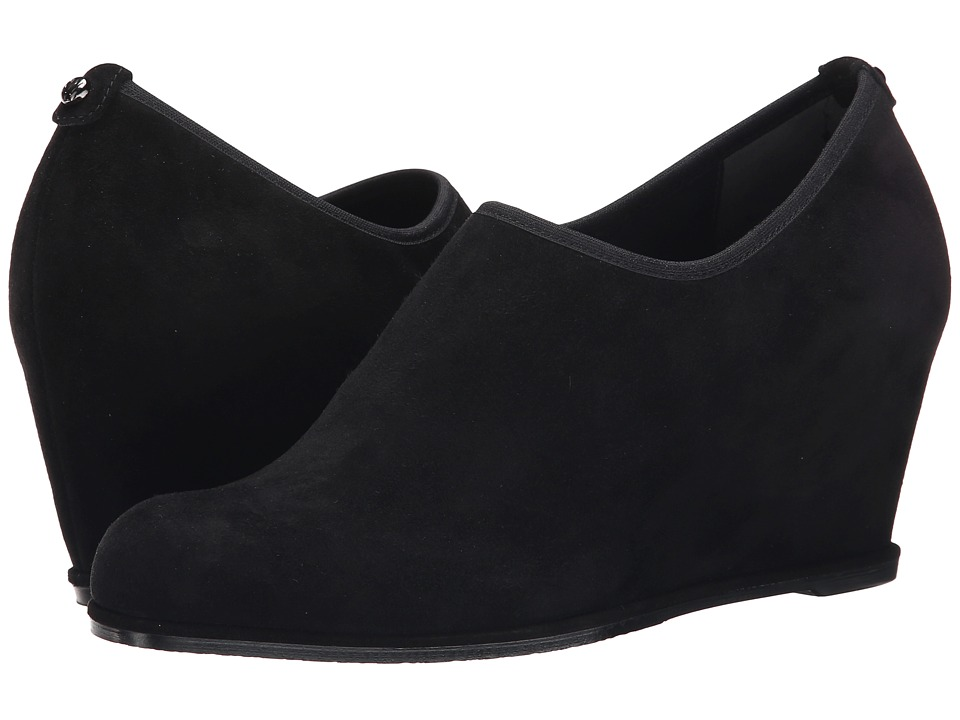 Stuart Weitzman - Fullstretch (Black Suede) Women's Wedge Shoes