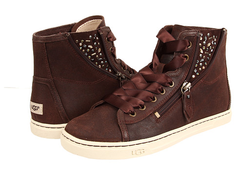 UGG - Blaney Crystals (Chocolate Leather) Women's Lace up casual Shoes