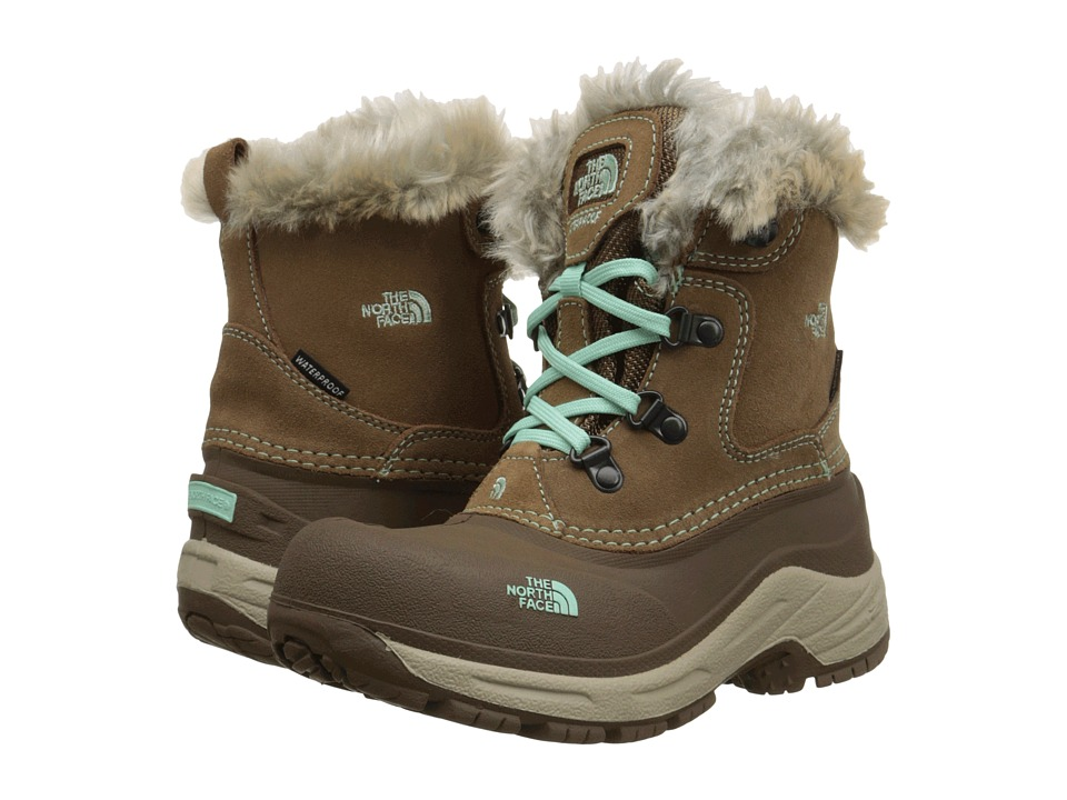 The North Face Kids - McMurdo Boot (Toddler/Little Kid/Big Kid) (Spun Brown/Surf Green) Girls Shoes