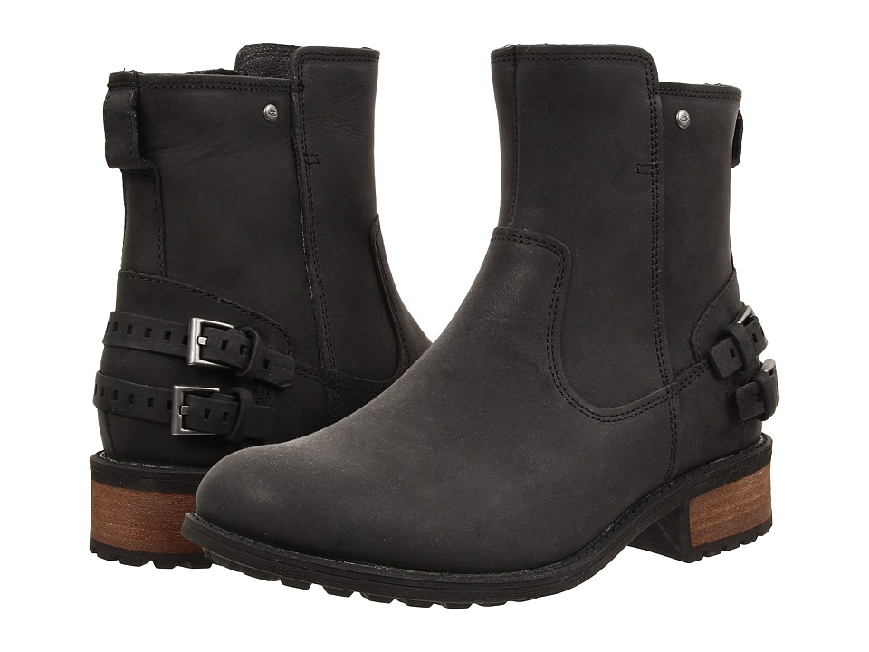 UGG - Orion (Black Leather) Women's Zip Boots