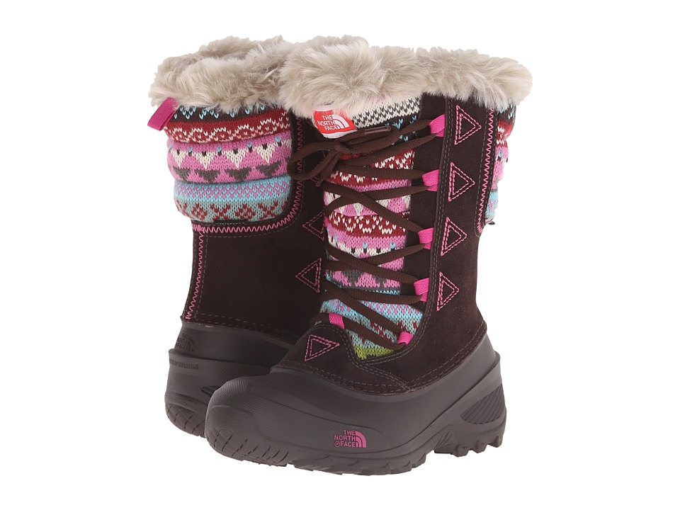 The North Face Kids - Shellista Lace Novelty II (Toddler/Little Kid/Big Kid) (Demitasse Brown/Luminous Pink) Girls Shoes