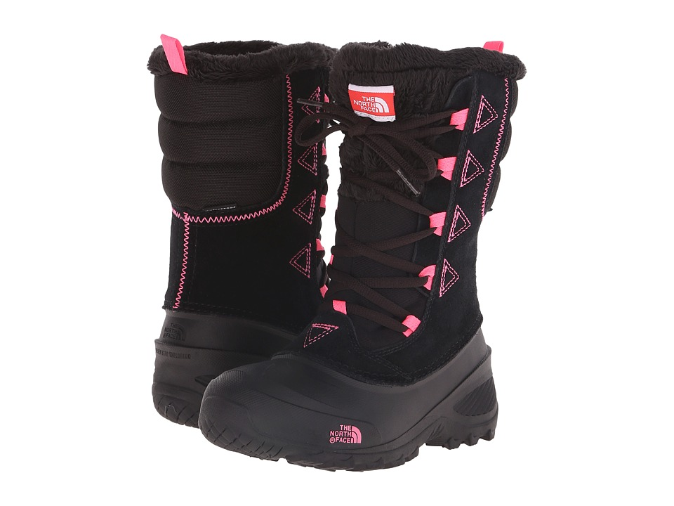 The North Face Kids - Shellista Lace II (Toddler/Little Kid/Big Kid) (TNF Black/Gem Pink) Girls Shoes
