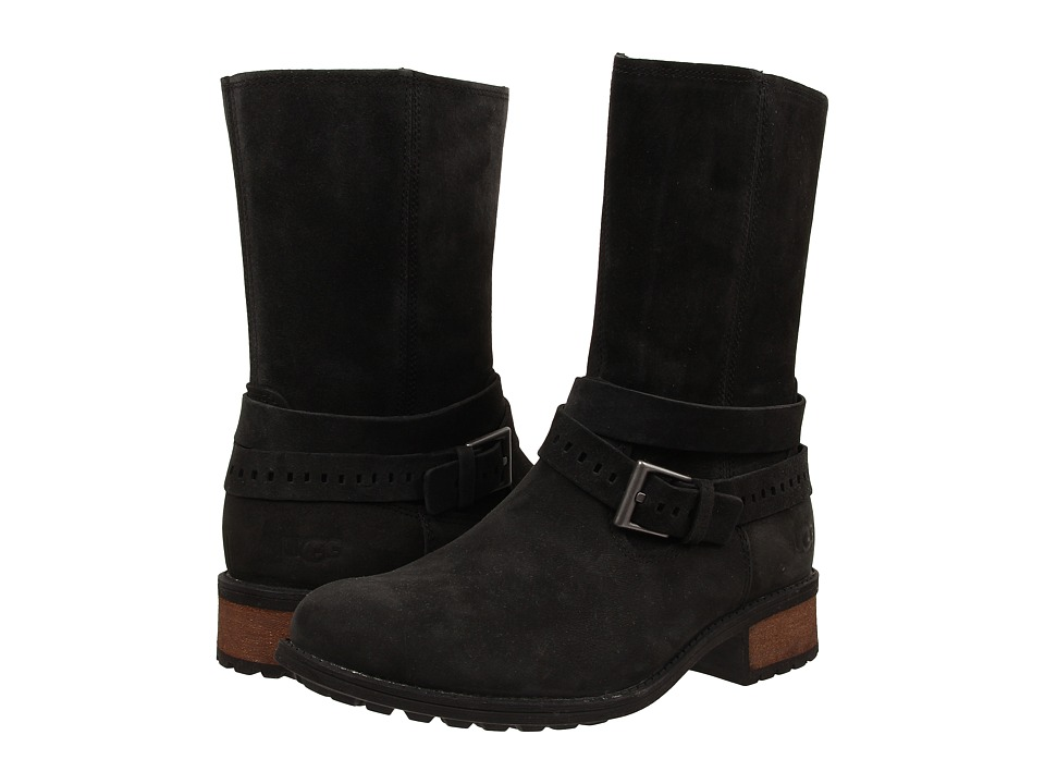 UGG - Kiings (Black Leather/Suede) Women's Boots