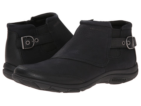 Merrell - Dassie Ankle (Black) Women's Zip Boots