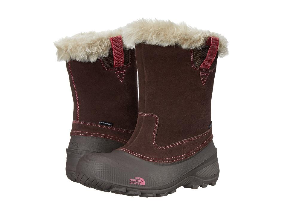 The North Face Kids - Shellista Pull-On II (Toddler/Little Kid/Big Kid) (Demitasse Brown/Luminous Pink) Girls Shoes