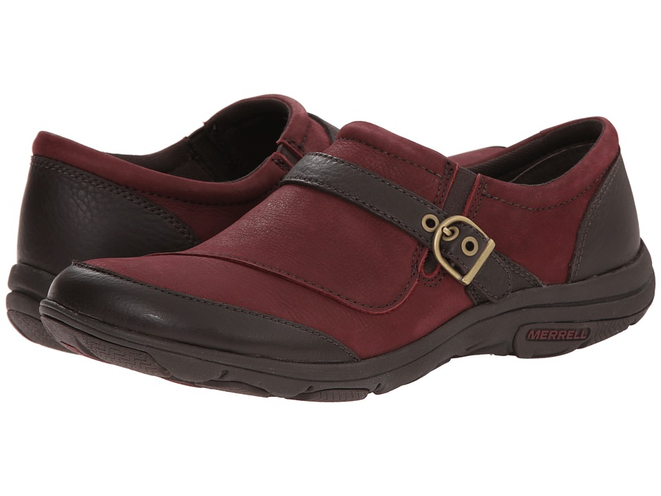 Merrell - Dassie Buckle (Deep Red/Espresso) Women's Shoes