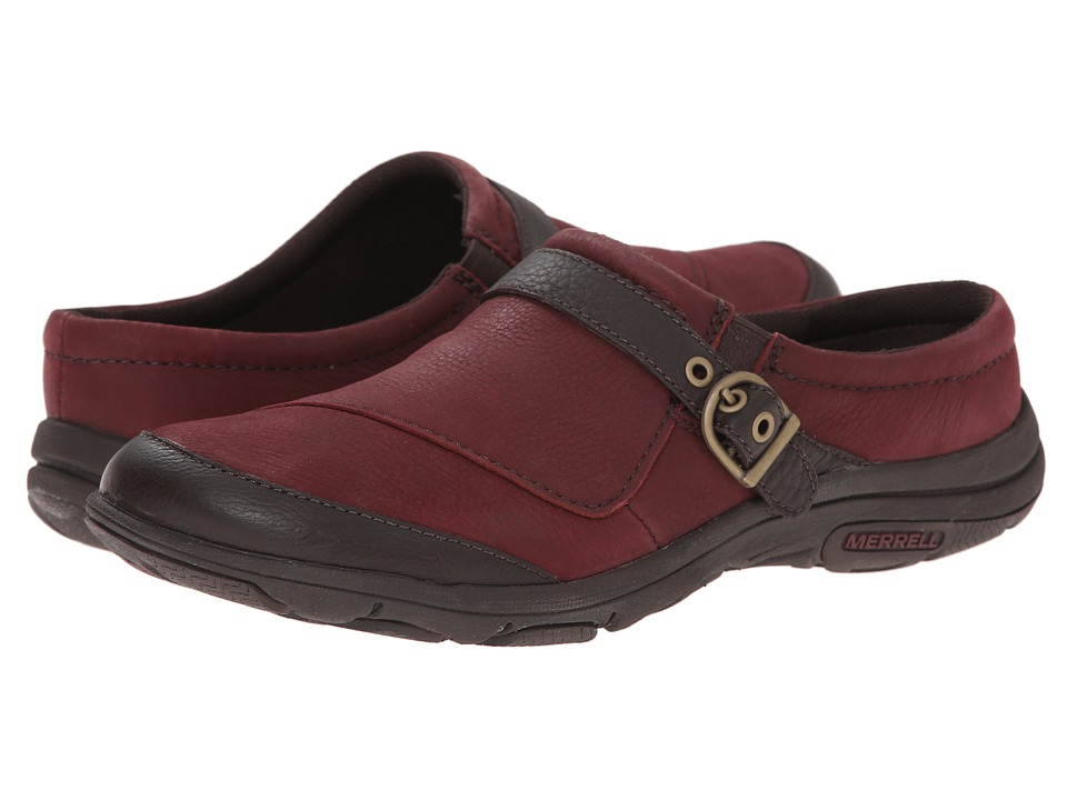 Merrell - Dassie Slide (Deep Red/Espresso) Women's Clog Shoes