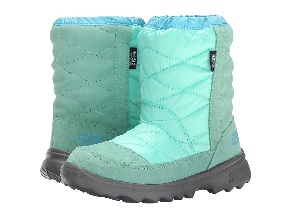 The North Face Kids - Winter Camp Waterproof (Little Kid/Big Kid) (Surf Green/Fortuna Blue) Girls Shoes
