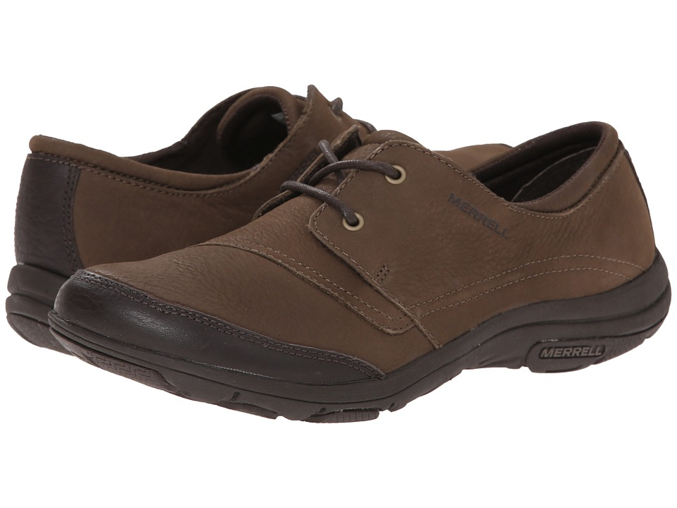 Merrell - Dassie Tie (Char Brown) Women's Lace up casual Shoes