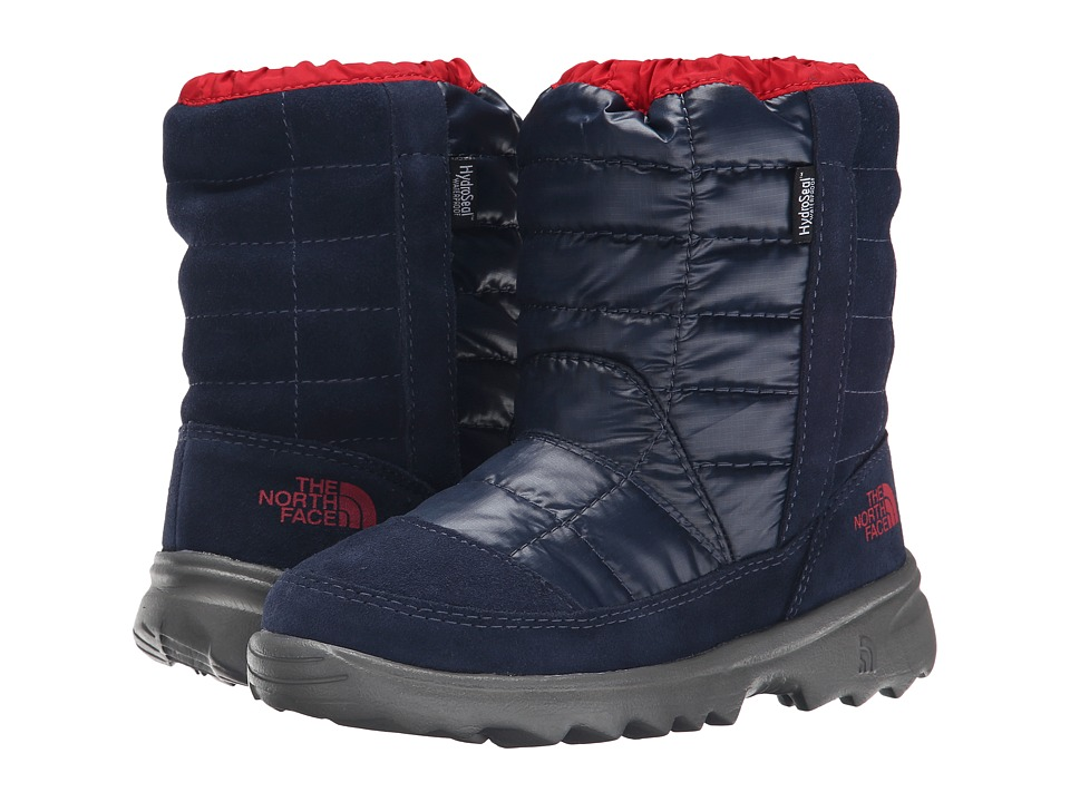 The North Face Kids - Winter Camp Waterproof (Little Kid/Big Kid) (Cosmic Blue/TNF Red) Boys Shoes