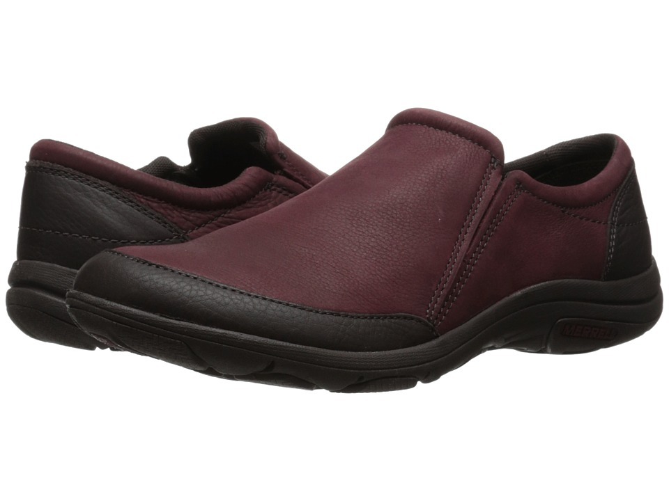 Merrell - Dassie Moc (Deep Red/Espresso) Women's Slip on Shoes