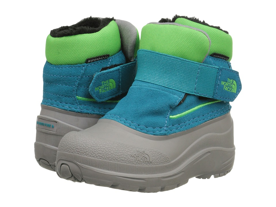The North Face Kids - Alpenglow (Toddler) (Enamel Blue/Krypton Green) Kids Shoes