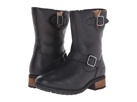 UGG - Chaney (Black Twinface/Leather) Women's Boots