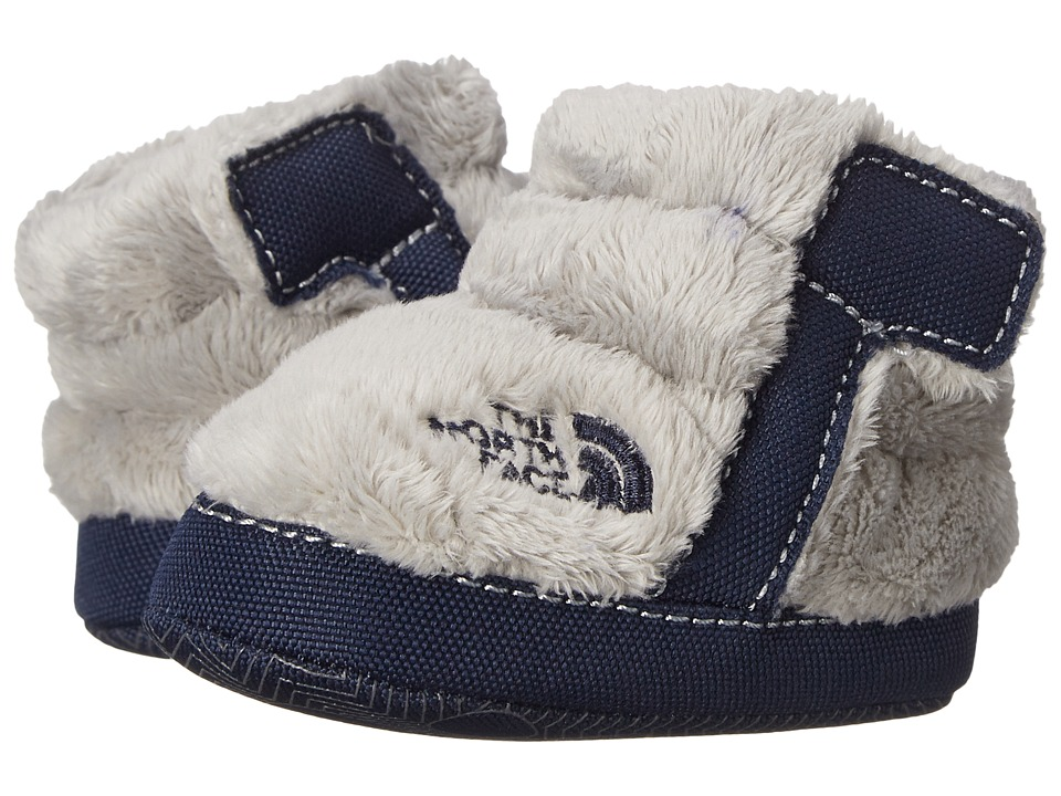 The North Face Kids - NSE Fleece Bootie (Infant/Toddler) (Griffin Grey/Cosmic Blue) Boys Shoes