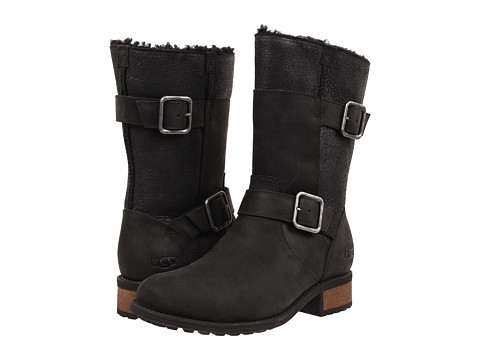 UGG - Oregon (Black Twinface/Leather) Women's Boots