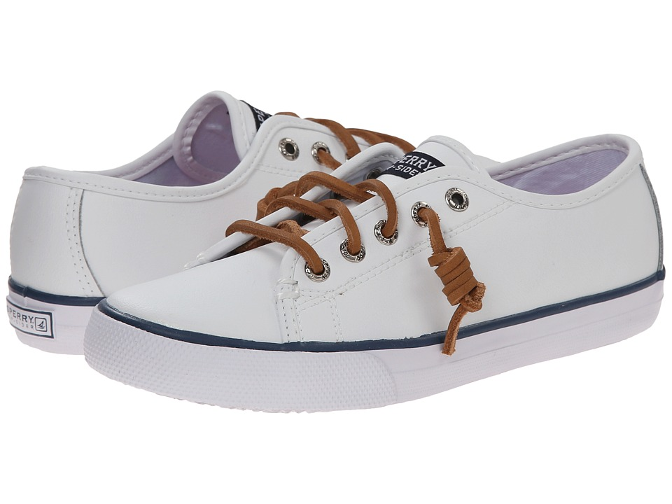 Sperry Kids - Seacoast (Little Kid/Big Kid) (White Leather) Girls Shoes