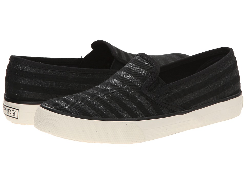 Sperry Top-Sider Kids - Seaside (Little Kid/Big Kid) (Black Glitter Stripe) Girls Shoes plus size,  plus size fashion plus size appare