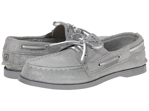 Sperry Top-Sider Kids - Authentic Original Slip-On (Little Kid/Big Kid) (Silver Sparkle) Girls Shoes