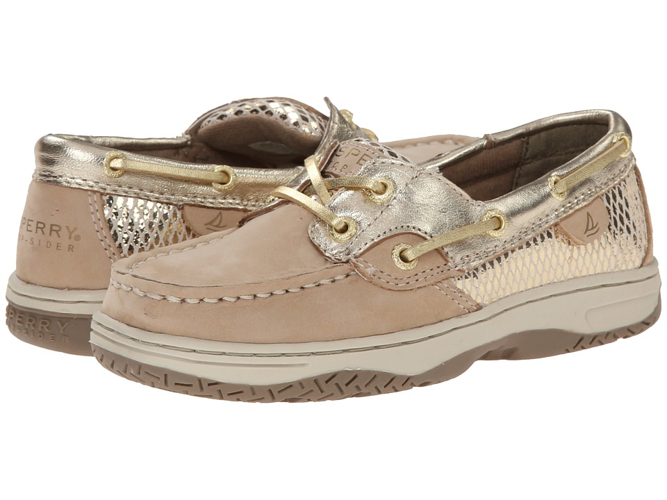 Sperry Kids - Bluefish (Little Kid/Big Kid) (Silver Cloud/Gold) Girls Shoes