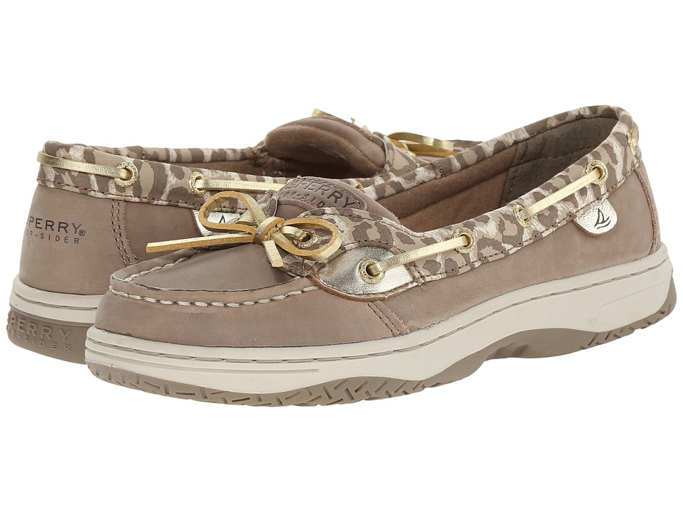 Sperry Top-Sider Kids - Angelfish (Little Kid/Big Kid) (Greige/Leopard) Girls Shoes