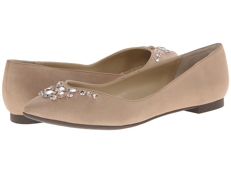 Adrienne Vittadini - Bryane (Taupe Sparkle) Women's Dress Flat Shoes