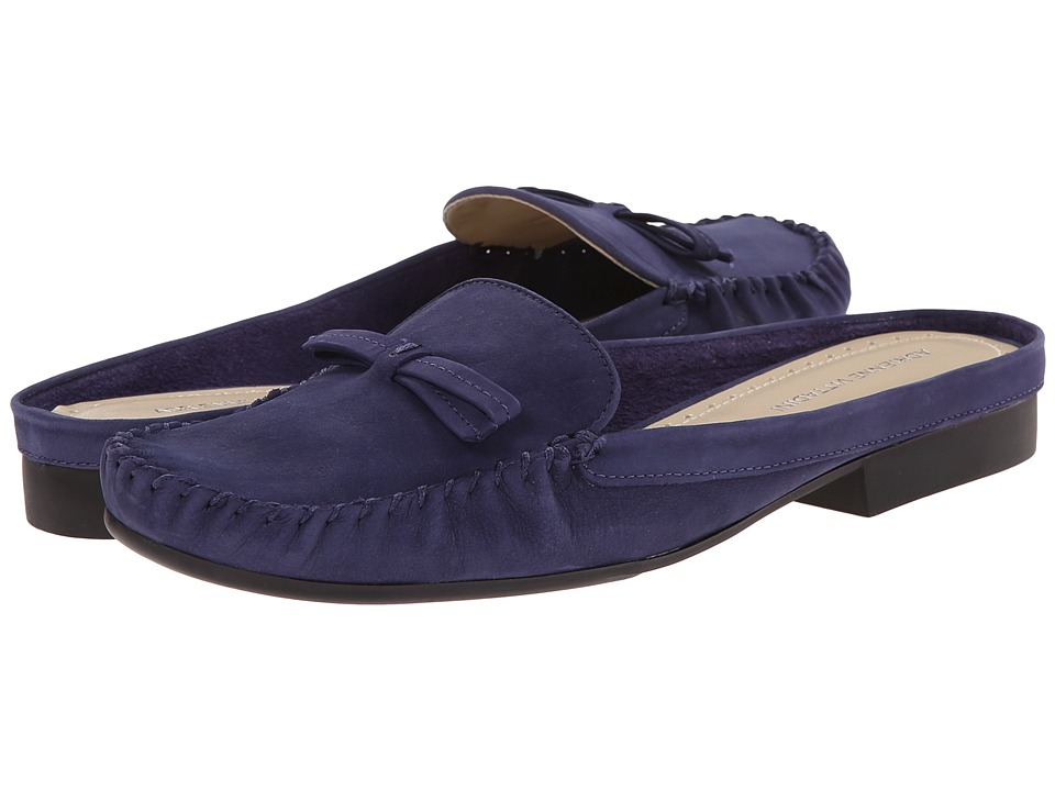 Adrienne Vittadini - Heba (Blue Heaven Soft Nubuck) Women's Clog Shoes