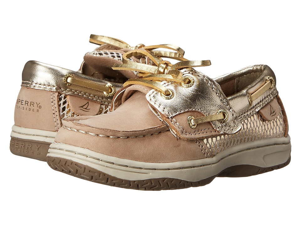 Sperry Kids - Bluefish Jr. (Toddler/Little Kid) (Silver Cloud/Gold) Girls Shoes