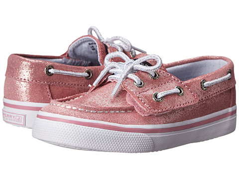 Sperry Top-Sider Kids - Bahama Jr. (Toddler/Little Kid) (Pink Sparkle) Girls Shoes