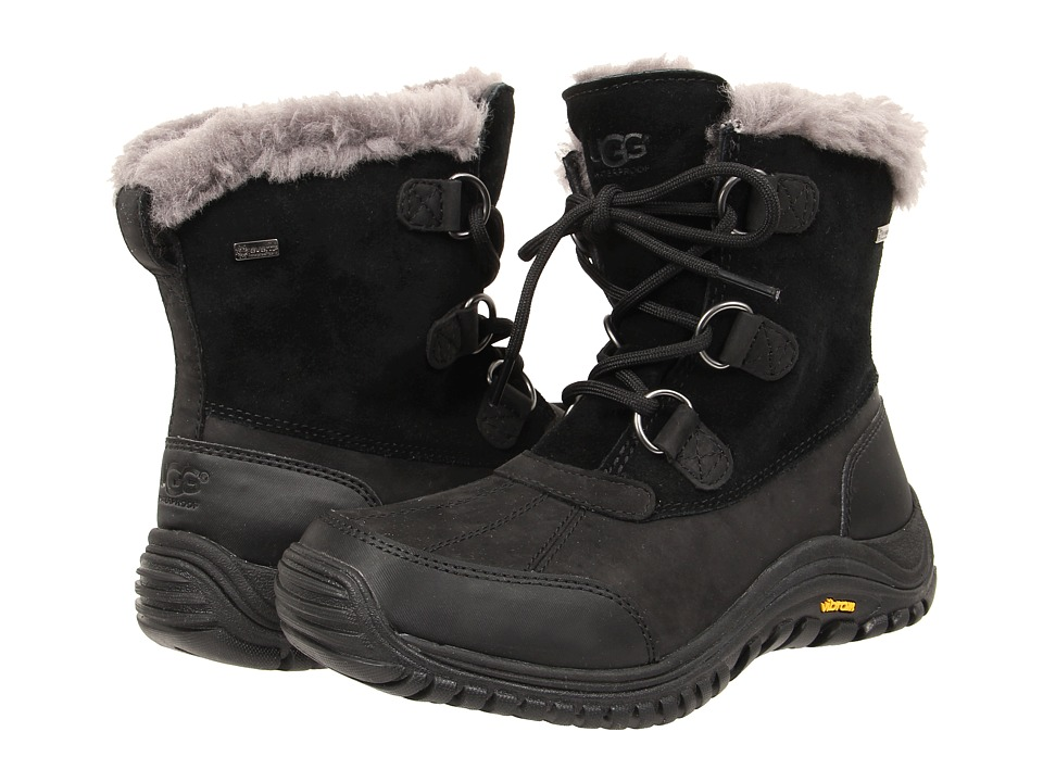 UGG - Ostrander (Black Leather) Women's Cold Weather Boots