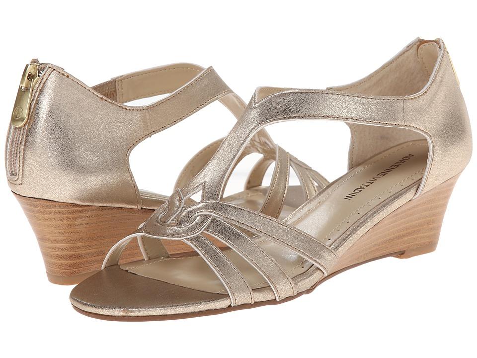 Adrienne Vittadini - Caldre (Gold Mixed Metallic) Women's Dress Sandals
