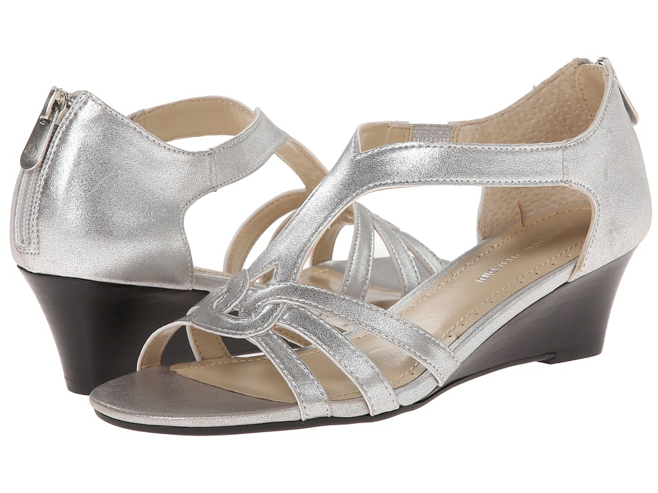 Adrienne Vittadini - Caldre (Silver Mixed Metallic) Women's Dress Sandals