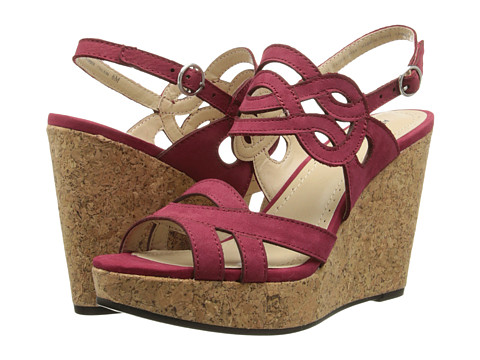 Adrienne Vittadini - Camber (Red Nubuck) Women's Wedge Shoes