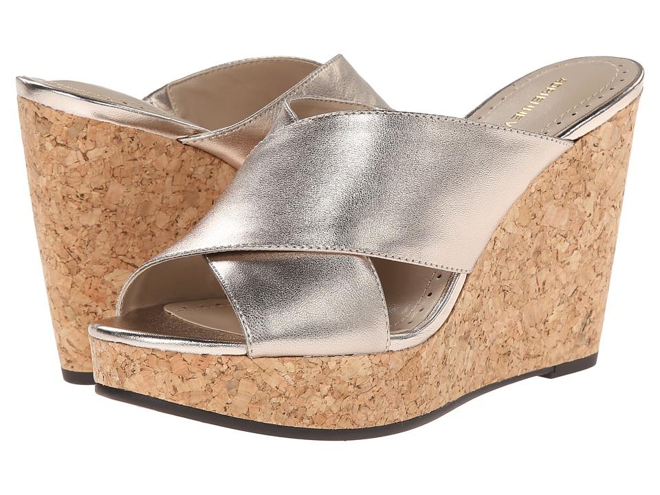 Adrienne Vittadini - Clem (Champagne Metallic Calf) Women's Wedge Shoes