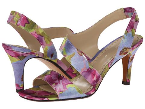 Adrienne Vittadini - Giprisity (Magenta Floral Fabric) Women's Dress Sandals