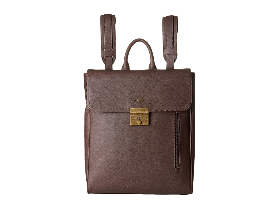 Armani Jeans - Saffiano Backpack (Brown) Backpack Bags