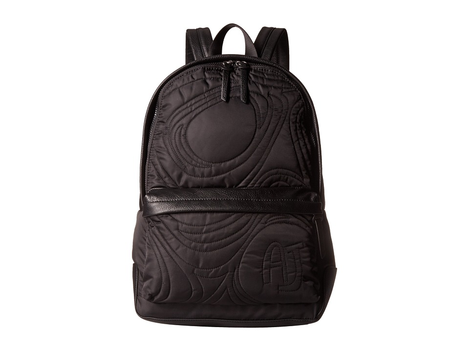 Armani Jeans - Textured Backpack (Black) Backpack Bags