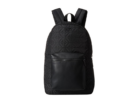 Armani Jeans - All-Over Eagle Logo Backpack (Black) Backpack Bags