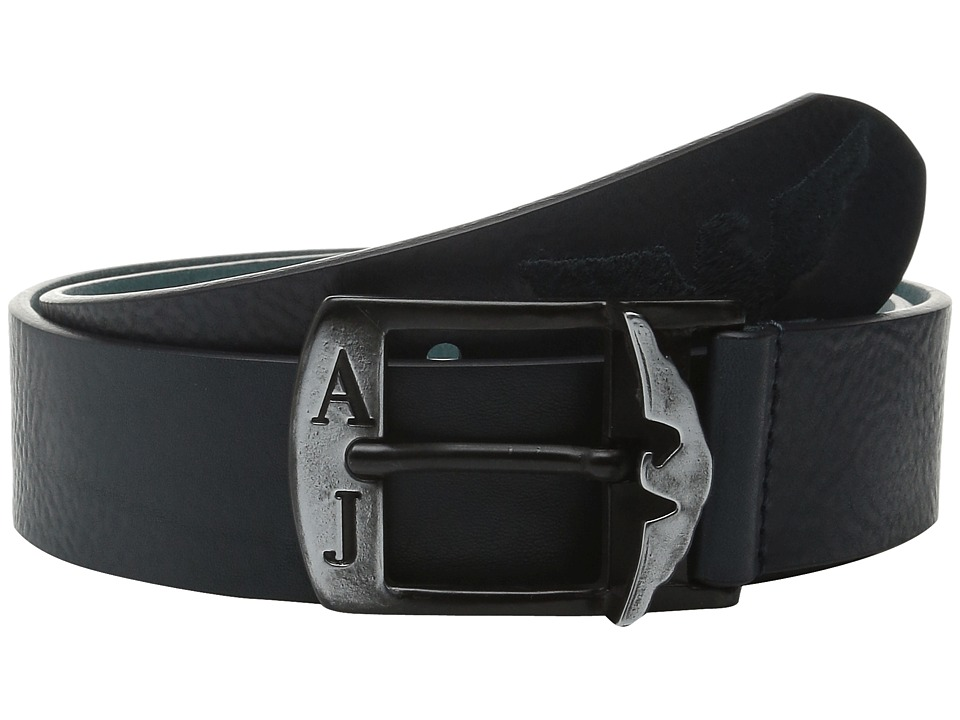 Armani Jeans - AJ Eagle Printed Belt (Blue) Men's Belts