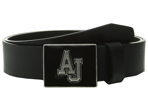 Armani Jeans - AJ Varsity Buckle Belt (Black) Men