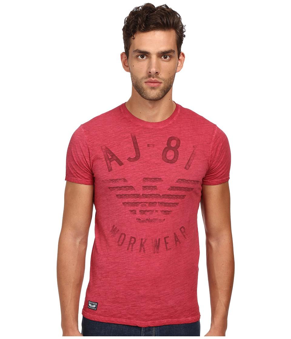 Armani Jeans - AJ-81 Workwear Tee (Heather Red) Men's T Shirt