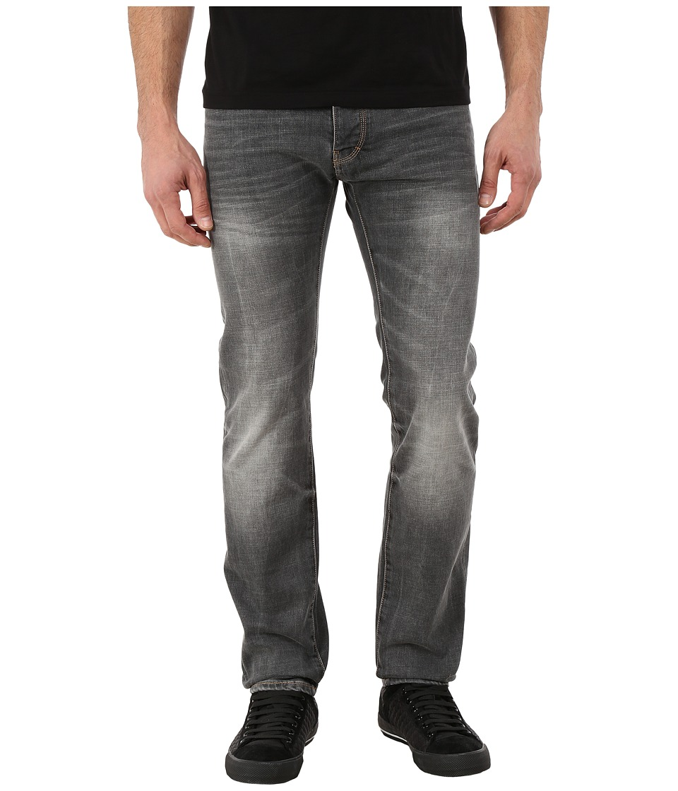 Armani Jeans - Right Hand Cotton Twill Slim Fit Denim (Grey) Men's Jeans