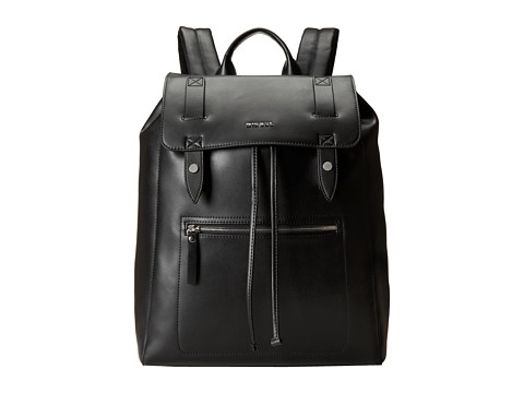 Diesel - Leather Beat Beat Flap (Black) Backpack Bags