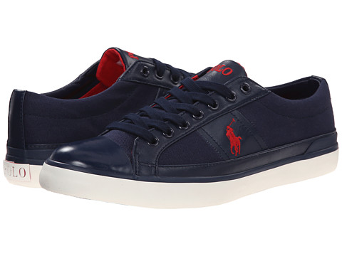 Polo Ralph Lauren - Churston (Newport Navy Canvas) Men's Lace up casual Shoes