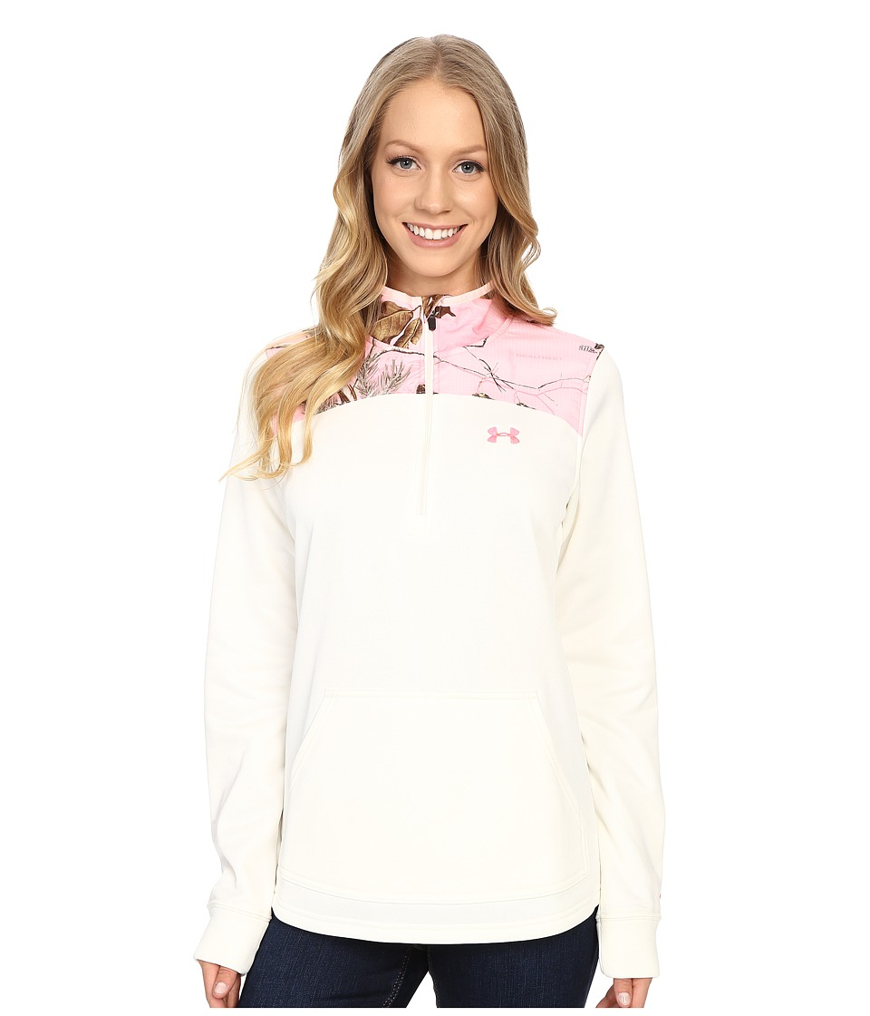 Under Armour - Caliber 1/2 Zip (Ivory 1) Women's Clothing