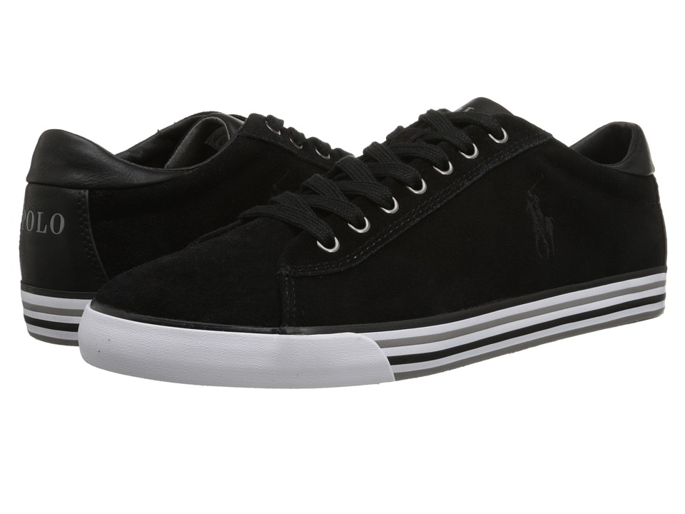 Polo Ralph Lauren - Harvey (Black Sport Suede) Men's Lace up casual Shoes