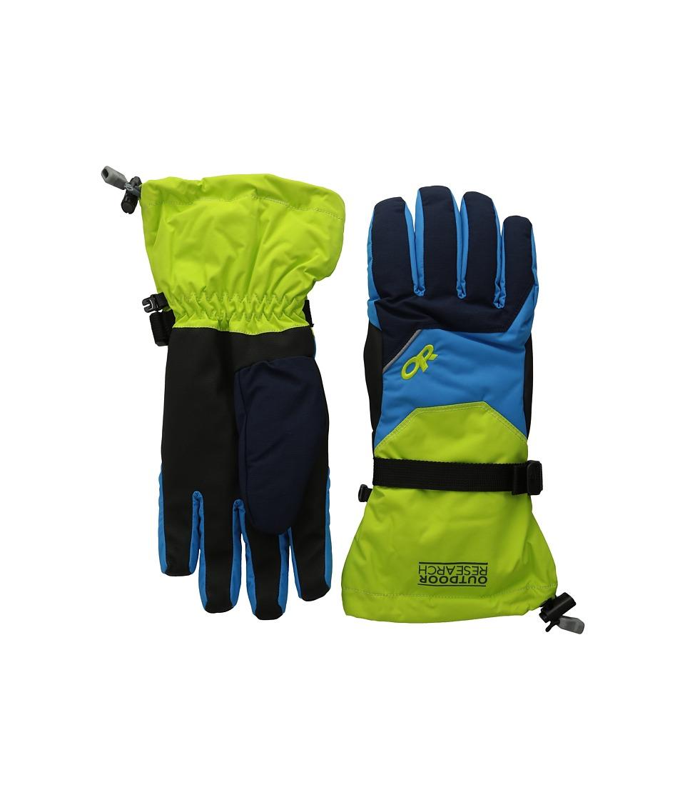 Outdoor Research Adrenaline Gloves (Night/Lemongrass/Hydro) Gore-Tex Gloves