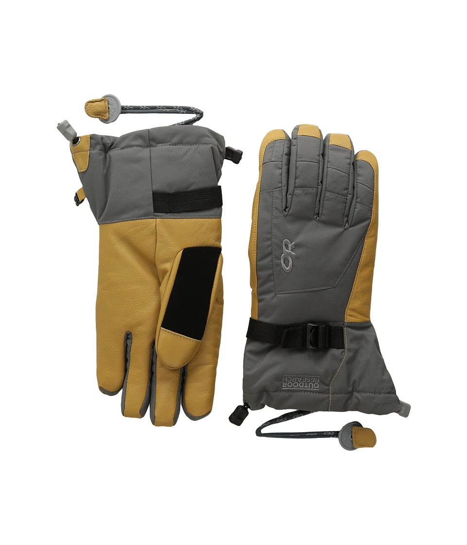 Outdoor Research Revolution Gloves (Charcoal/Natural) Extreme Cold Weather Gloves