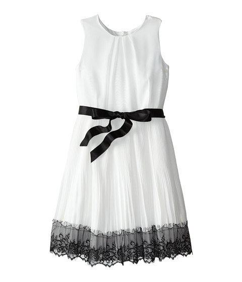 Us Angels - Sleeveless Pleated Skirt w/ Lace Trim (Big Kids) (Ivory) Girl's Dress